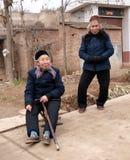 Anziani rurali Fotografia Stock