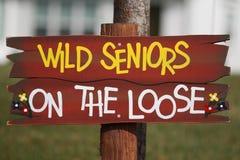 Anziani selvaggi sull'allentato Immagine Stock