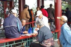 Anziani in sosta Immagine Stock