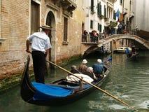 Anziani sulla gondola Fotografia Stock