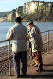Anziani sulla promenade Immagini Stock Libere da Diritti