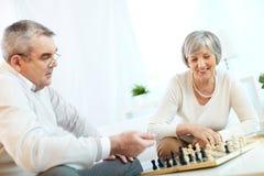 Anziani a svago Fotografia Stock