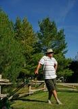Anziano attivo fotografia stock