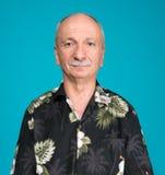 anziano bello del ritratto dell'uomo Fotografie Stock Libere da Diritti