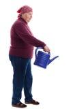 Anziano che tiene una latta di innaffiatura 2 Immagini Stock Libere da Diritti