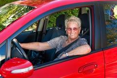 Anziano come driver di automobile immagine stock libera da diritti