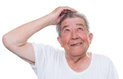 Anziano con Alzheimer Fotografia Stock Libera da Diritti