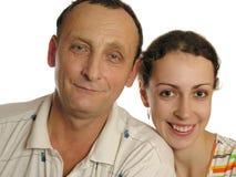 Anziano con la figlia Immagine Stock Libera da Diritti