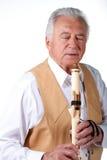 Anziano con la scanalatura Immagini Stock