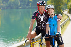 anziano del ciclista Fotografia Stock