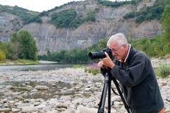 anziano del fotografo Fotografie Stock Libere da Diritti
