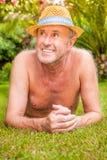 Anziano del giardino Fotografia Stock Libera da Diritti