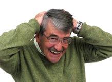 Anziano dell'uomo di affari Fotografia Stock