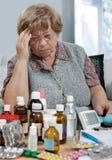 anziano della medicina Fotografia Stock Libera da Diritti