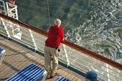 Anziano della nave da crociera Immagini Stock Libere da Diritti