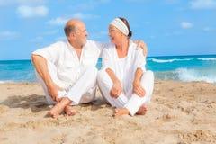 Anziano della spiaggia Immagine Stock