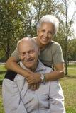 anziano di amore bello delle coppie Fotografia Stock
