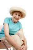 Anziano di estate - sedendosi Immagini Stock