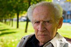 Anziano Displeased immagini stock libere da diritti