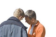 Anziano e junior Fotografie Stock Libere da Diritti