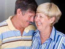 anziano felice delle coppie Fotografie Stock Libere da Diritti