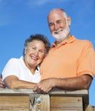 anziano felice di aria aperta delle coppie Immagine Stock Libera da Diritti