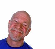 Anziano felice sorridente Fotografia Stock Libera da Diritti