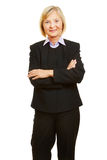 Anziano femminile anziano come donna di affari Immagine Stock