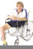 Anziano freddo di handicap fotografie stock