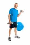 Anziano in ginnastica Immagine Stock