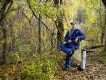 Anziano invalido asma Fotografia Stock Libera da Diritti