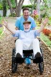 Anziano invalido - divertimento Fotografia Stock