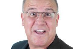 Anziano maschio impressionabile dell'uomo di Headshot Immagini Stock Libere da Diritti