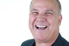 Anziano maschio impressionabile dell'uomo di Headshot Fotografia Stock