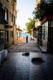 Anziano nella città turca della spiaggia Immagine Stock Libera da Diritti