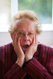 Anziano Pensive Fotografie Stock Libere da Diritti