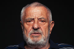 Anziano preoccupato 2 Immagine Stock Libera da Diritti