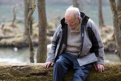 Anziano triste Fotografia Stock