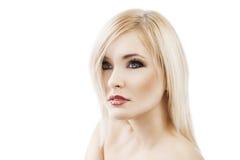 Anziehen blond mit Haarart Stockbilder