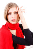 Anziehende junge Dame mit Schal Lizenzfreie Stockbilder