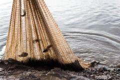 Anziehender naher Nettolehm der Fische Lizenzfreie Stockbilder