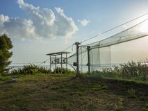 Anziehendes Netze Vente-Kap Litauen stockbilder