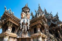 Anziehung Pattaya das Santuary der Wahrheit Thailand Stockbild