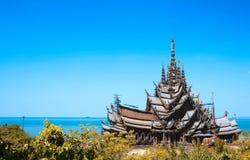 Anziehung Pattaya das Santuary der Wahrheit Thailand Stockfotografie