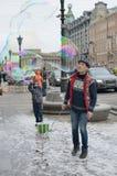 Anziehungskräfte für Kinder auf der Straße Lizenzfreies Stockfoto