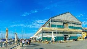 Anziehungskräfte im alten Hafen Stockfotografie