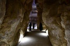 Anziehungskraft für viele Touristen ist Al Qarah Mountain im Land der Zivilisation auf Saudi-Arabien stockfoto