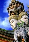Anziehungskraft im Pattaya-Gesicht des Gottes Stockfotografie
