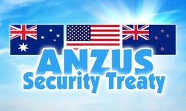 ANZUS, договор безопасностью Соединение между Австралией, Новой Зеландией и США стоковая фотография rf