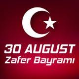 30 août bayrami Victory Day Turkey de zafer Photo libre de droits